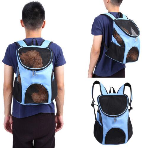 New Outdoor Double Shoulder Backpack For Pet Travel Dog Cat Carrier Mesh Windows