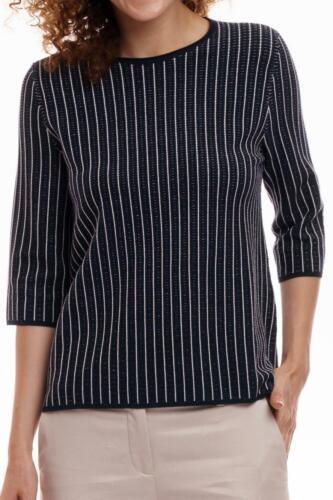 Sweater Damen schwarz weiß Designer 7//8 Ärmel Neu 169 € STEFANEL