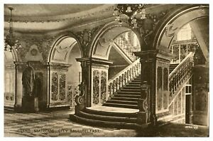 Vintage-postcard-Grand-Staircase-City-Hall-Belfast-Northern-Ireland-W-E-Walton