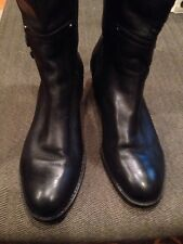 FRANCO SARTO Candy Riding Boots Wide Calf Leather Boots (Black - Size 11 Med)