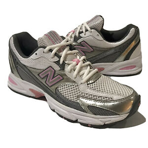 Women's New Balance 350 White/Gray Athletic Running Sneakers Size ...