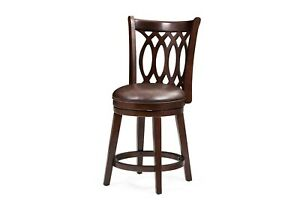 Amazing Details About 24 Chelsea Counter Height Bar Height Swivel Bar Stool Chair Dark Cherry Unemploymentrelief Wooden Chair Designs For Living Room Unemploymentrelieforg