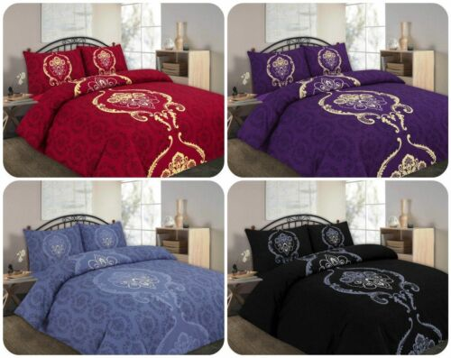 Dominic Luxury Duvet Covers Quilt Covers Reversible Bedding Sets All Sizes by NZ