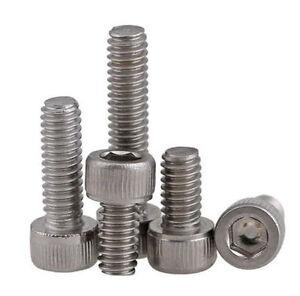 "Qty 20 Socket Head Cap 4-40 UNC x 1 1//2/"" Stainless Steel 304 Screw SS BSW Allen"