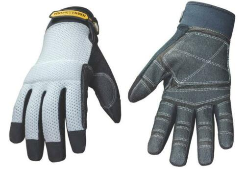 YOUNGSTOWN 04-3070-70-M  MEDIUM GRAY MESH PLUS HEAVY DUTY WORK GLOVES 1462373