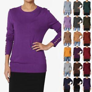 388d0e30f6107 TheMogan Women   PLUS Boyfriend Long Sleeve Crew Neck Knit Sweater ...
