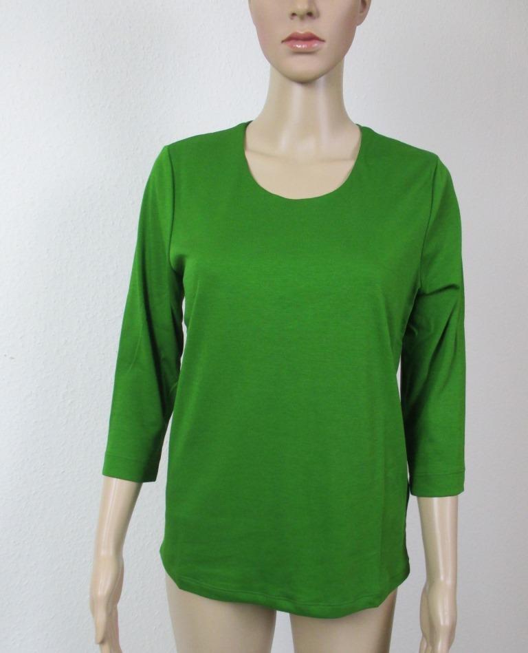 Efixelle Shirt mit 3 4 Arm, Arm, Arm, Rundhalsausschnitt, Farbe buchs (grün) Größe 42 | Niedriger Preis und gute Qualität  | Billiger als der Preis  | Geeignet für Farbe  98da54