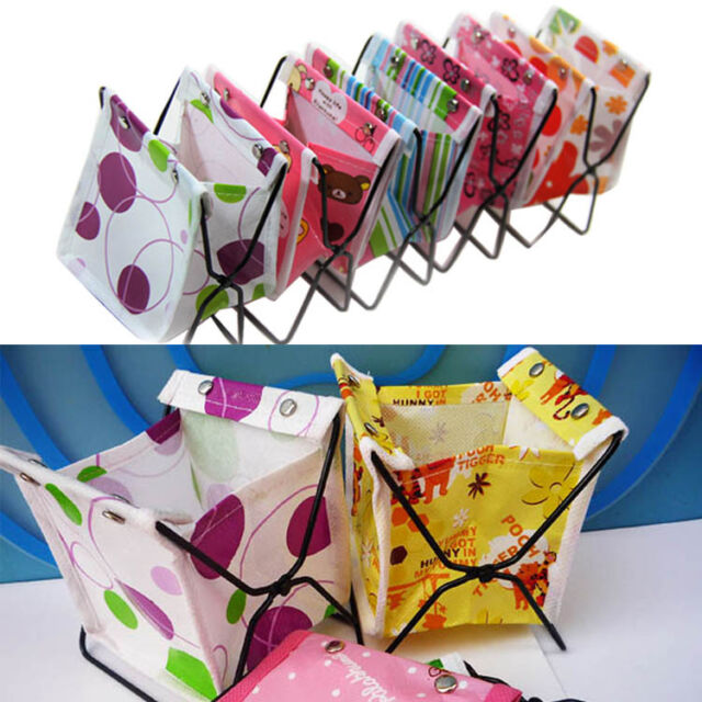 Foldable Pen Cosmetic Makeup Fabric Stand Holder Bag Box Case Organizer Storage