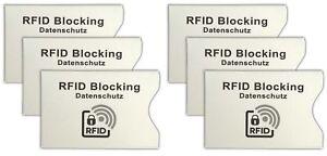 UnermüDlich 6x Rfid Schutzhülle Kartenschutzhülle Kreditkarte Ec-karte Hülle Kartenhülle Quell Sommer Durst