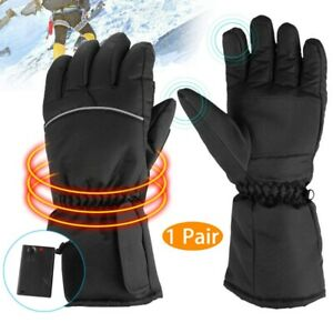 Battery-Operated-Heated-Gloves-Outdoor-Winter-Work-Cold-Warm-Hands-Waterproof-US
