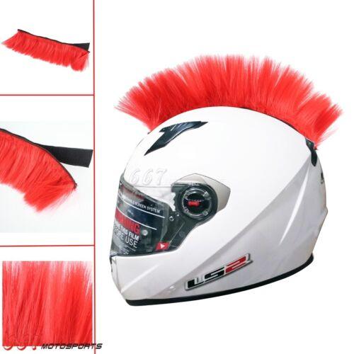 Motorcycle Dirt Bike ATV Ski Snowboard Helmet Colorful Mohawk Hair Universal