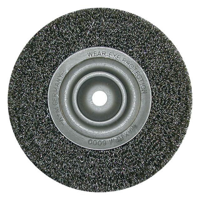 Rundbürste D 200 x Loch 50 x 0,35 Stahldraht , für Schleifböcke , Drahtbürste