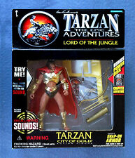 TARZAN LORD OF THE JUNGLE WITH  SOUND CITY OF GOLD FIGURE TRENDMASTERS 1995