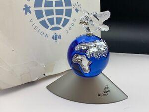 SWAROVSKI Figurine 238985 Anniversary Crystal Planet 4 11/16in Ob &