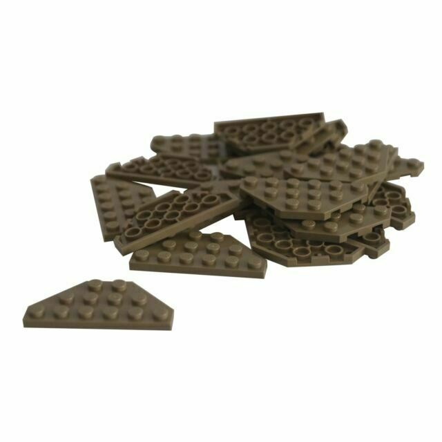 LEGO Lot of 4 Brown 3x6 Cut Corner Plate Pieces