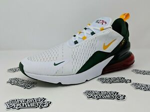 Details about Nike Air Max 270 Seattle Home Sonics White University Gold Fir Green CD7786 100