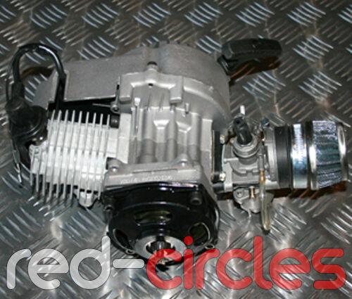 49cc Minimoto Mini Moto Bike   QUAD ENGINE W   Pullstart CARBURATORE e filtro dell' aria