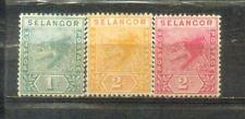 1891 Malaya Malaysia  Selangor Tiger Old Stamps MH