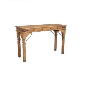 Rustic Sofa Table with Conchos Western Lodge Cabin Metal ...