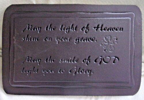 "Bench top mould Irish memorial concrete plaster mold 22/"" x 13.5/"" x 2.25/"""