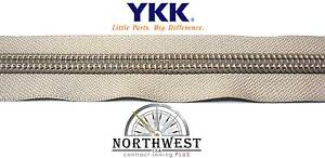 "Genuine YKK Nylon Coil Zipper Tape #10 - 10 yards ""Platinum"" Extra Heavy Duty"