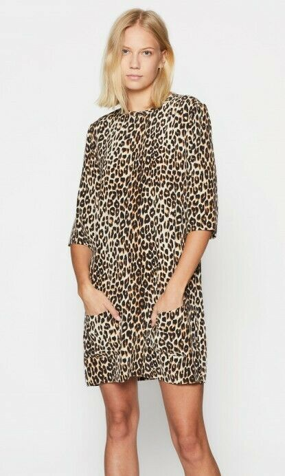 268 Nuevo con etiquetas EQUIPMENT seda  estampado de leopardo Cheetah Aubrey Vestido @SHOPBOP ahora XS 0 2 4  elige tu favorito