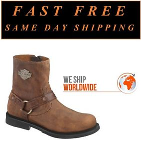 Harley-Davidson® D95263 Scout Men's 7 Inch Brown Leather Motorcycle Riding Boots
