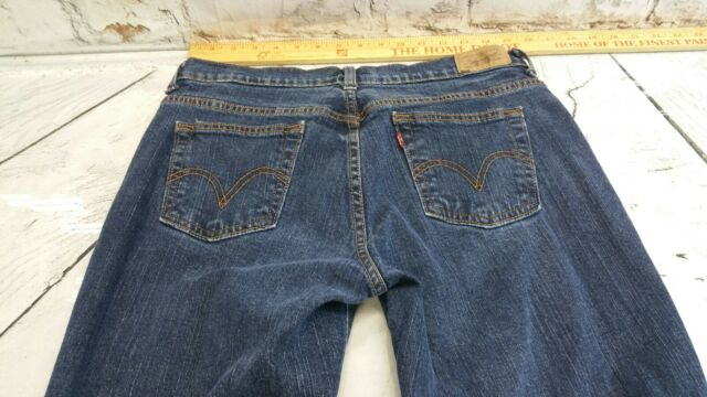 c0debeaf8e1 Levi's 515 Boot Cut Jeans Women's Dark Blue Stretch Denim Size 10 ...