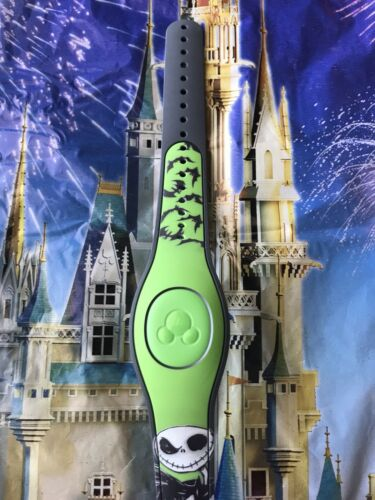 Disney Parks Jack Skellington MagicBand 2 Link It Later GREEN Magic Band 2.0
