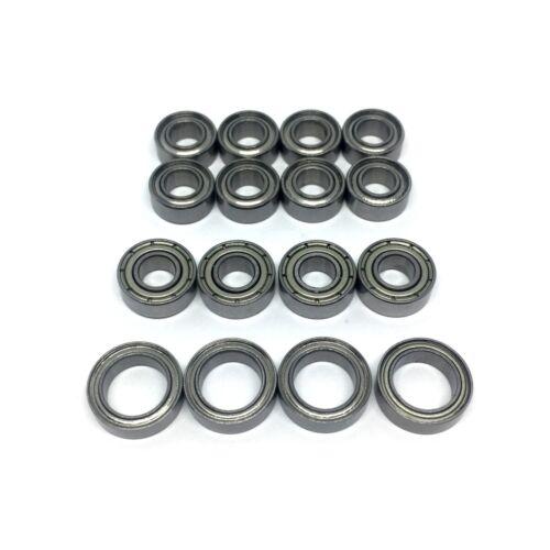 Tamiya TT02 Bearing Sets 16 Rubber or Metal Shielded Bearings