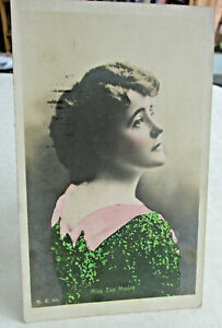 1909-Actress-Postcard-of-Miss-EVA-MOORE-Hand-painted-Photo-Postcard-Stage-actor