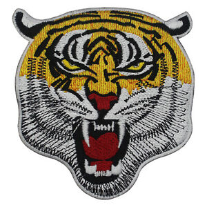 Bangal Tiger Head Iron On Patch Sew On Badge Embroidered Cloth Patch