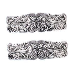 2x Vintage Style Metal French Barrette Hairclip Hair Clasps Hair Decor Accessory