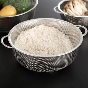 Stainless Fine Mesh Strainer Bowl Drainer Vegetable Sieve Colander 31.5cm