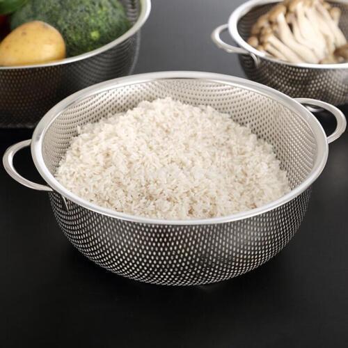 Stainless Fine Mesh Strainer Bowl Drainer Vegetable Sieve Colander 25.5cm