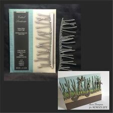 CATTAIL LANDSCAPE border metal die Memory Box dies 99456 grass,leaves,nature