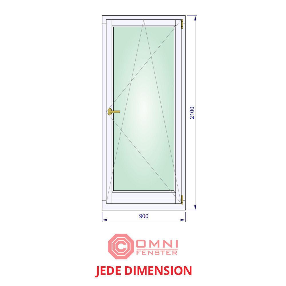 Fenster Holzfenster Kiefer lang 90 x 210cm MODERNER LOOK