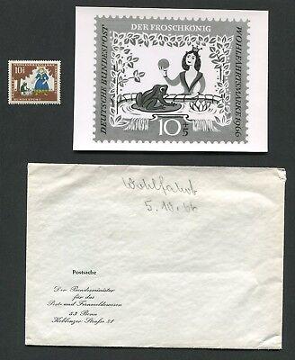 Briefmarken E628 Brd Foto-essay 523/526 MÄrchen 1966 Der FrÖschkÖnig Grimm Tales Proof R!r
