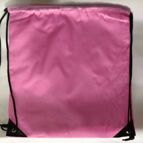 UK School Drawstring Bag Sport Gym Sack Swim PE Kit Shoe Sports Backpack /_lt