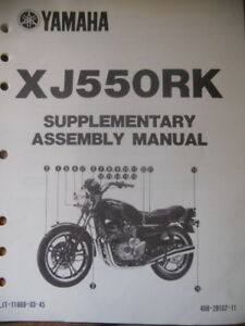 yamaha supplementary assembly manual xj550 xj 550 ebay rh ebay com yamaha xj550 service manual yamaha xj 550 maxim manual
