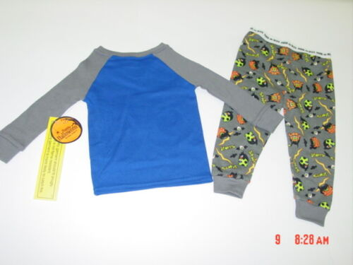 NWT Infant Toddler Boy 2 piece Pajamas Blue Sleepwear Halloween Boo Yeah Sports
