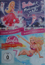 Barbie 2 DVD's Märchenhafte Barbie-Abenteuer Modezauber in Paris + Barbie Oceana