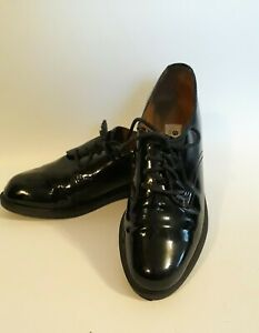 Oxford Shoes Shiny Black Patent Leather