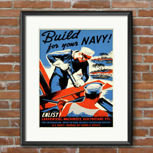UNITED STATES NAVY Recruiting Poster US Navy Modern Mobile Mighty Print Gift 587