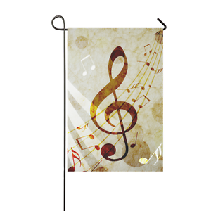 Custom Beautiful Music Notes Garden Flag 12x18 IN without Flagpole Garden Decor