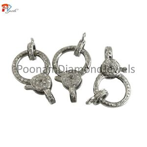 Lobster Clasp Lobster Jewelry 925 Silver Pave Diamond Lobster Lock Lobster Charm Holder Lobster lock finding Diamond Lobster Pendant