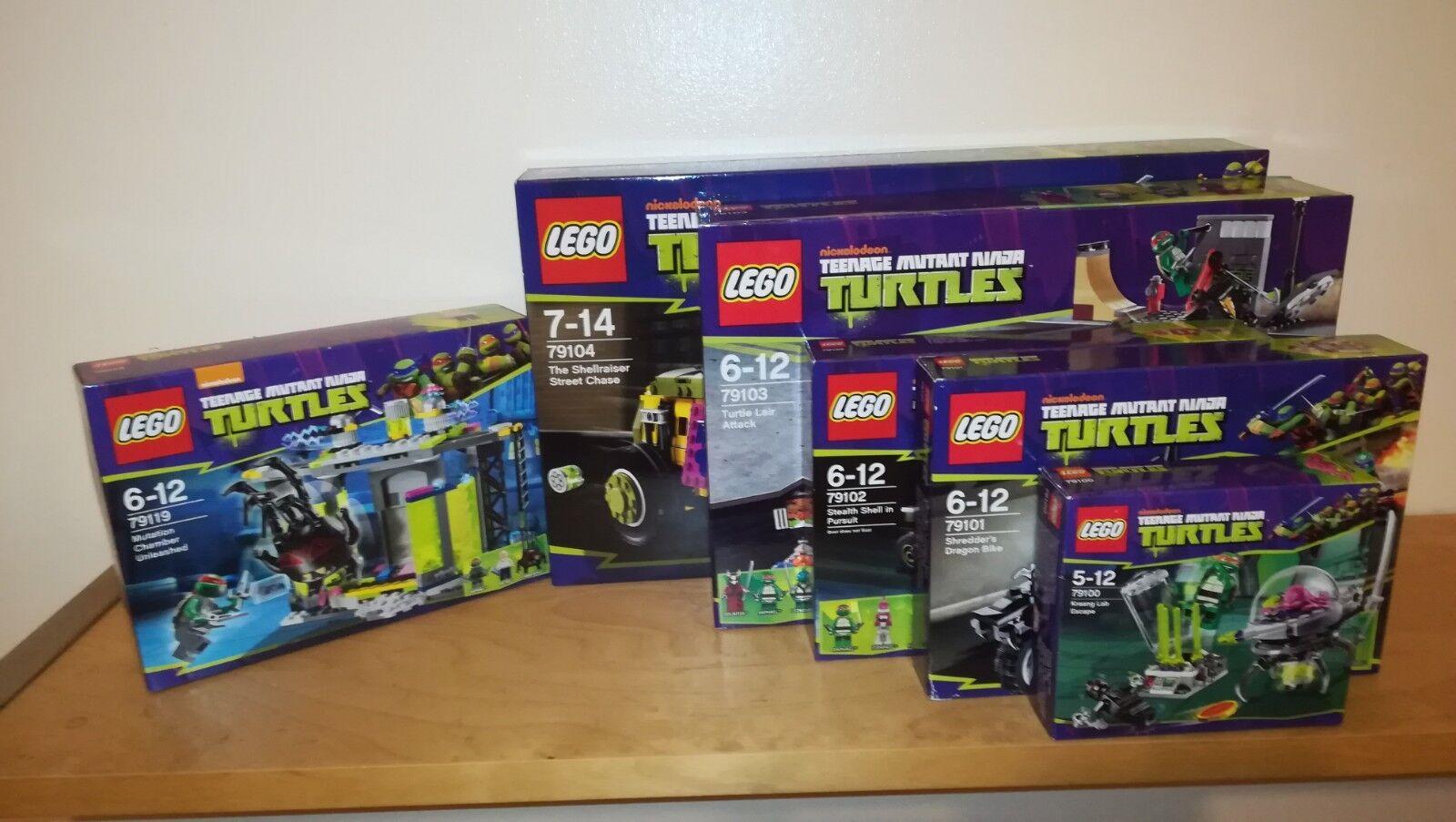 LEGO Teenage Mutant Ninja Turtles Bundle of 79100 79101 79102 79103 79104 79119