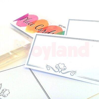 Flight Tracker 25/50/75/100 Bianco Posto Nome Carte Per Party Cena Wedding Tavolo Impostazione Cuore- Aspetto Estetico