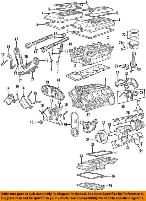 bmw 11137513374 genuine oem upper pan ebay rh ebay com BMW M62 Engine BMW M54 Engine Diagram