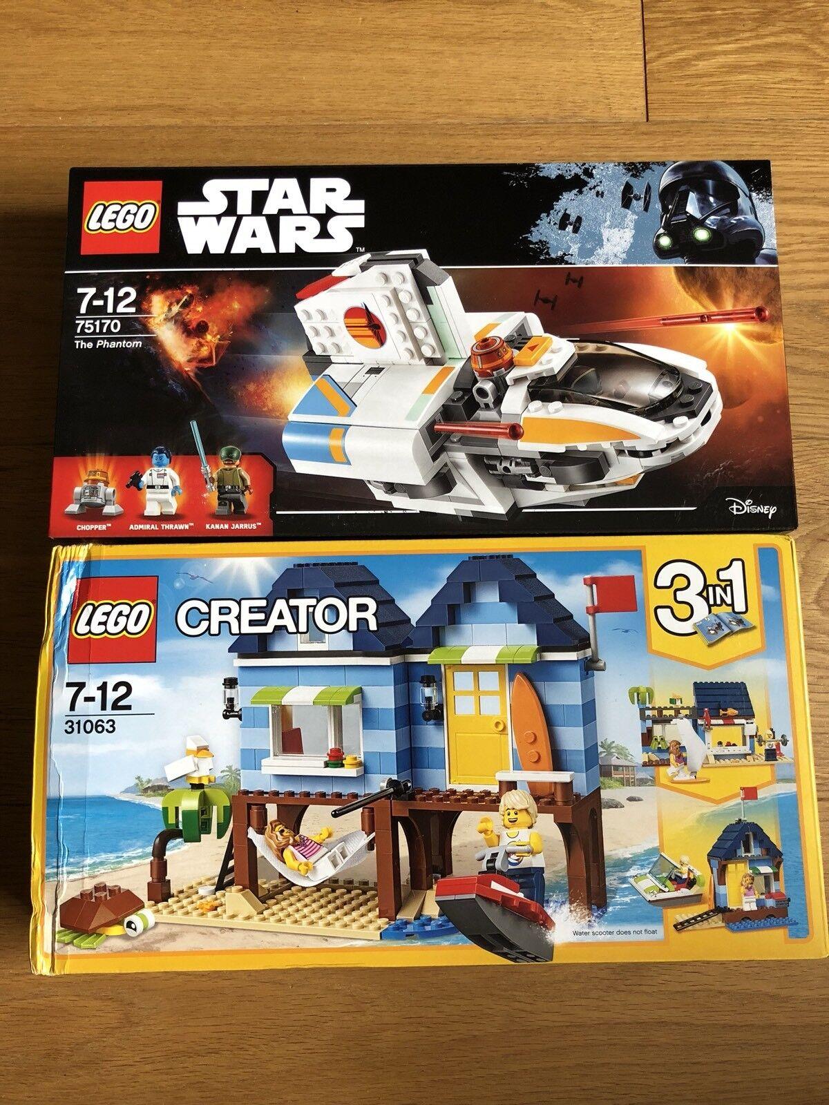 NEW Lego 2-Pack Bundle Star Wars 75170 & Creator 3in1 31063 Sets SEALED